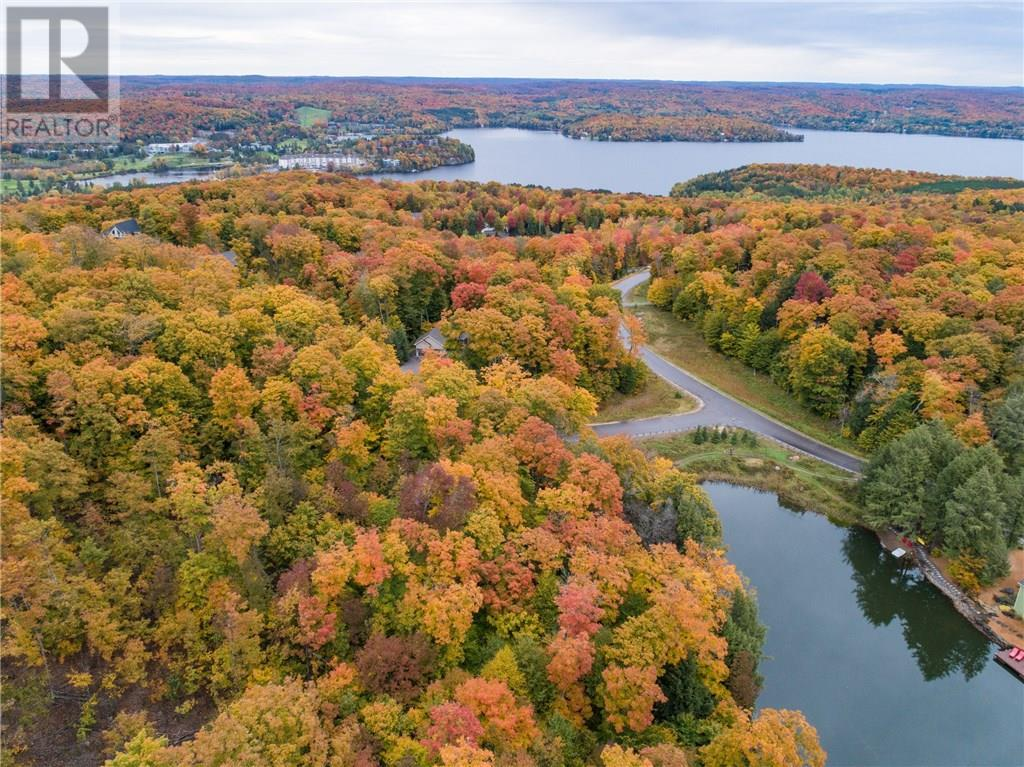 Deerfoot Trail land for sale from the air in fall