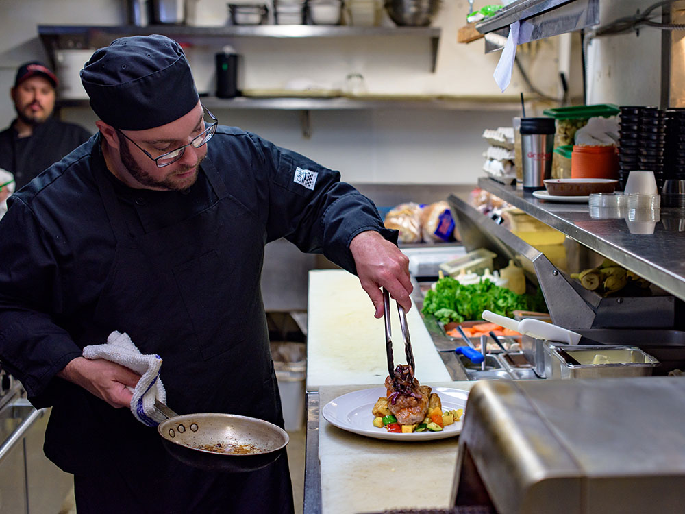 Chef Ryan at Main Street Local kitchen