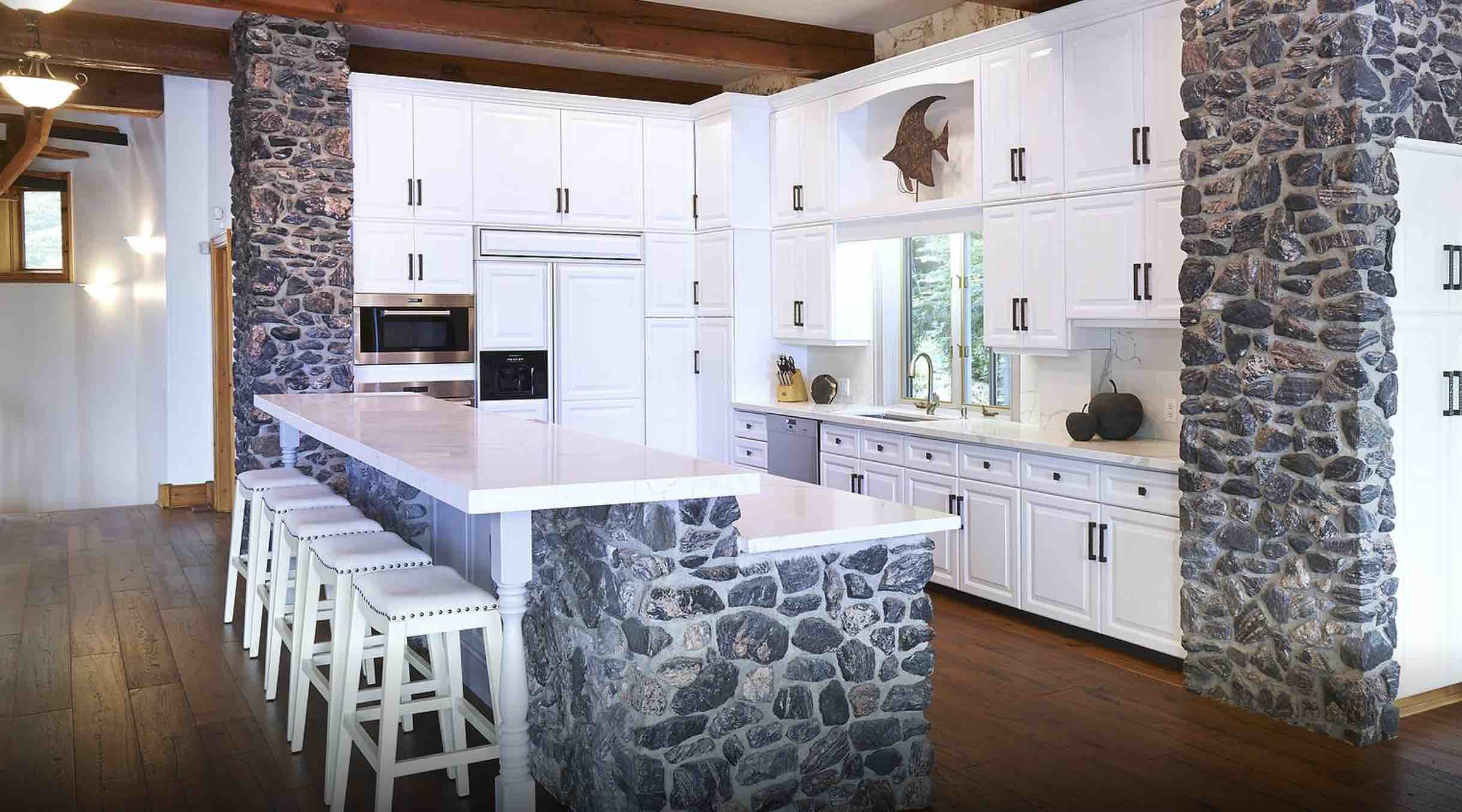 The deluxe kitchen at Sagamo Estate is made for entertaining