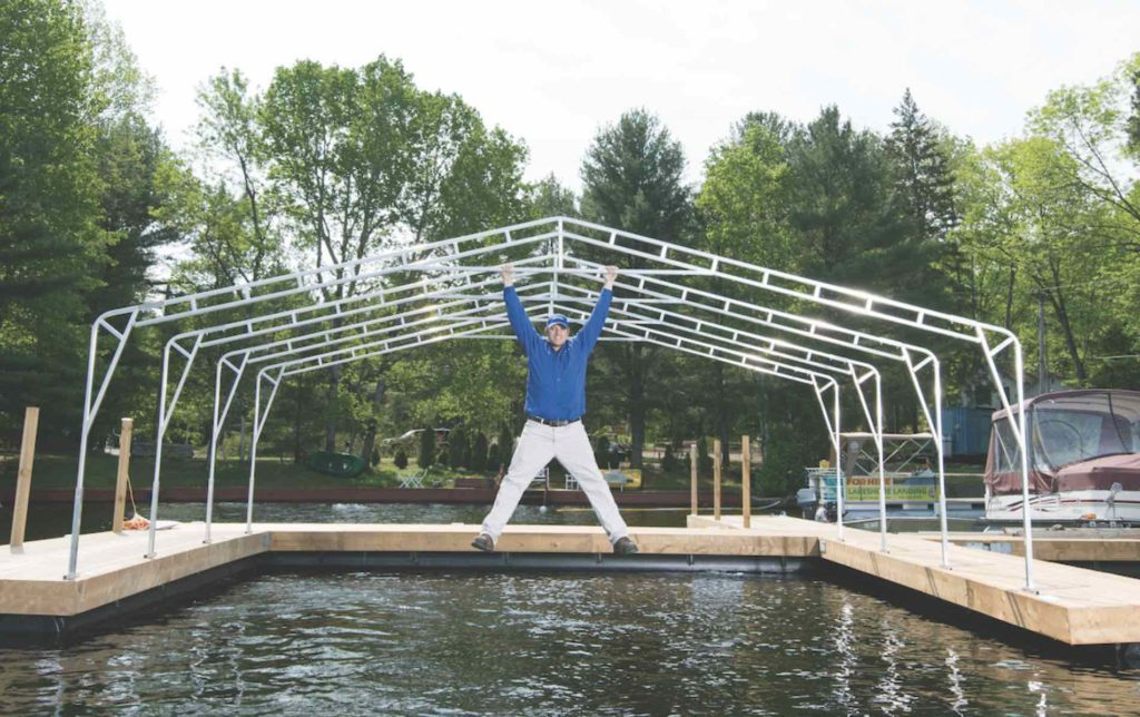 Aquadome's Made-in-Muskoka Awnings Provide Protection