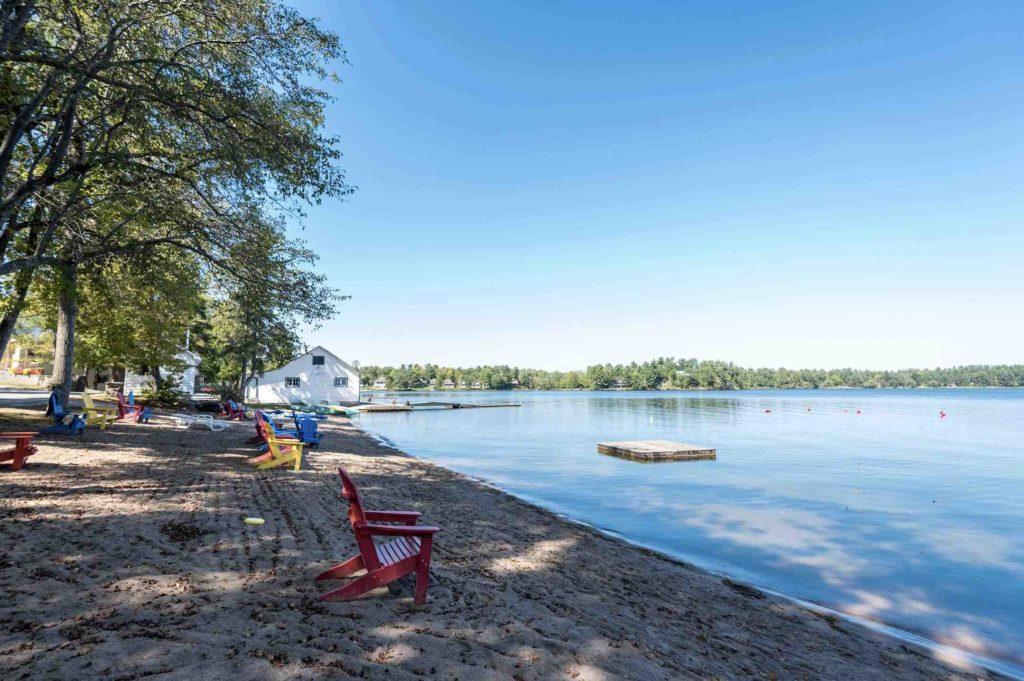 Bayview Wildwood Resort beach in summer