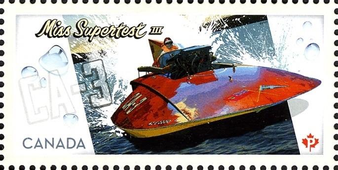 Canada Post stamp showing Miss Supertest III