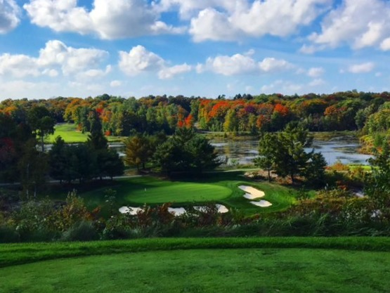 Oviinbyrd Golf Club 14th hole at one of the top muskoka golf courses