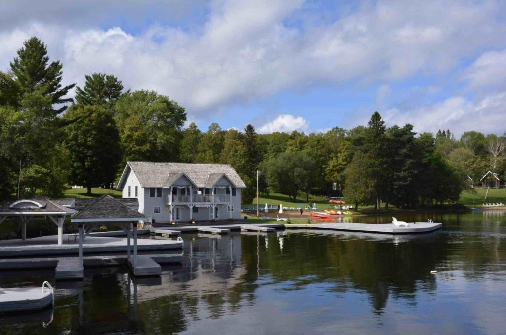Port Cunnington Lodge with boathouse is one of the top luxury Muskoka resorts